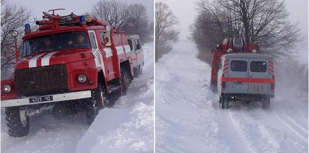 У снігових заметах на тернопільщині